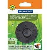 Carretel 1 Fio de Nylon 1,8 mm Tramontina para Aparador de Grama com 8 m de Comprimento
