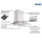 Coifa de Parede Tramontina New Vetro Aço Inox e Vidro Temperado 90cm 127v - 95800007