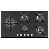 Cooktop a Gás 5 bocas Tramontina Design Collection Penta Glass Flat  Acendimento Automático- 94731104