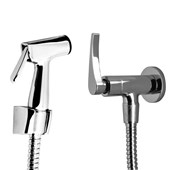 Ducha Higienica manual c/registro e flexivel metálico 1/4 volta Lume