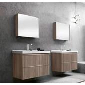Espelheira para Banheiro Bumi Blu 60cm Grigio - 3600402