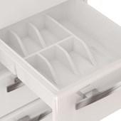 Gabinete de Cozinha em Aço Cozimax Venus Flat 120cm Branco e Preto - 87633