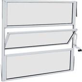 Janela Basculante Alumínio 60X60X02 Branco - Sasazaki