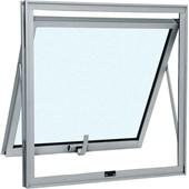 Janela Maxim-ar sem Grade Alumínio 60 x 80cm Vidro Mini Boreal Branco Sasazaki