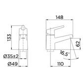 "Misturador Monocomando para Banheiro Docol Nexus Mesa 1/2"" Cromado - 00494506"
