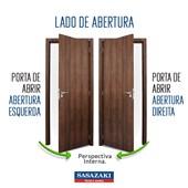 Porta de Aço com Postigo e Grade Sasazaki Belfort Abertura Esquerda 217x87x8cm Cinza - 66.61.471-9