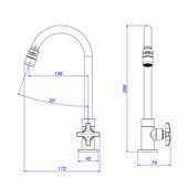 Torneira para cozinha bica móvel Max 1167 C34 cromada Deca