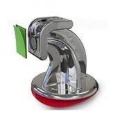 Trava Portas Magnético Cromado Com Fixação Adesiva Plasnature